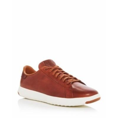コールハーン メンズ スニーカー シューズ Men's GrandPro Leather Lace Up Sneakers Brown