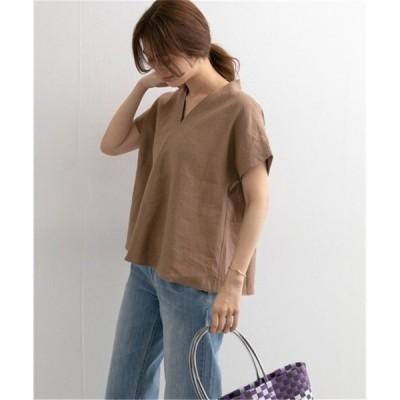 tシャツトップスニットブラウスプルオーバーレディースフレア半袖無地Vネックコーデゆったりオシャレ優雅着痩せ体型カバー夏30代