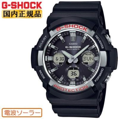 G-SHOCK 電波 ソーラー ビッグケース GAW-100-1AJF CASIO カシオ Gショック タフソーラー 電波時計 アナログ&デジタル コンビネーション 黒 メンズ 腕時計