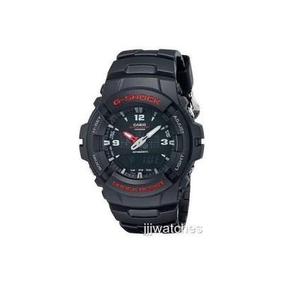 腕時計 カシオ G-ShockCasio G-Shock Anti-Magnetic ブラック ラバー Digi/Ana メンズ 腕時計 48ミリ G100-BV 99