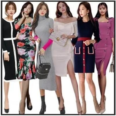 ニットワンピース韓国ファッション/ワンピース/高品質/アイテム/タイドブランド/ストリート/ビッグサイズ/ユルイタイプ/ホットトレンドTシャツ
