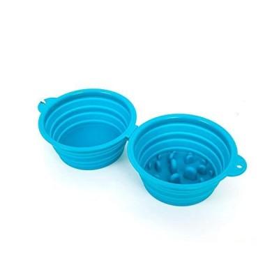 Collapsible Slow Feeder Dog Bowl Silicone Travel Pet Slow Feeding Bowl Dog