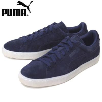 sale セール PUMA (プーマ) 360850 SUEDE CLASSIC COLORED (スウェードクラシック) ローカットスニーカー 01 ピーコート/ホワイト PM156