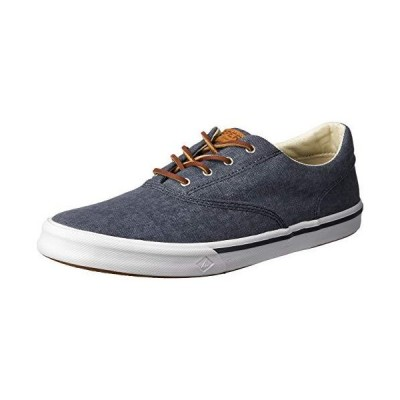 Sperry Men's Striper II Cvo Sneaker Navy 8 並行輸入品