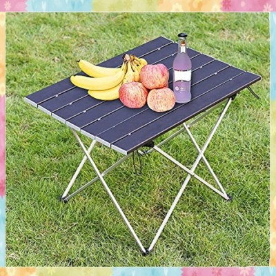 ロールテーブル アウトドアテーブル 折りたたみミニテーブル アルミ製 軽量 耐熱 酸化加工 防水防錆 安定感抜