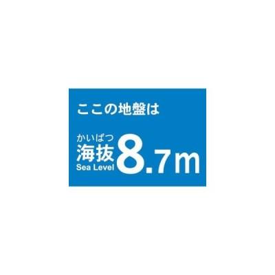 【メール便選択可】海抜ステッカー 8.7m (2枚入) TKBS-87