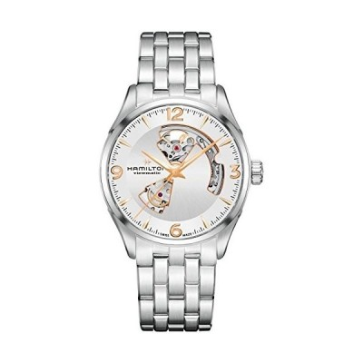 腕時計 ハミルトン メンズ H32705151 Hamilton Jazzmaster Open Heart Auto Silver Dial Men's Watch H327