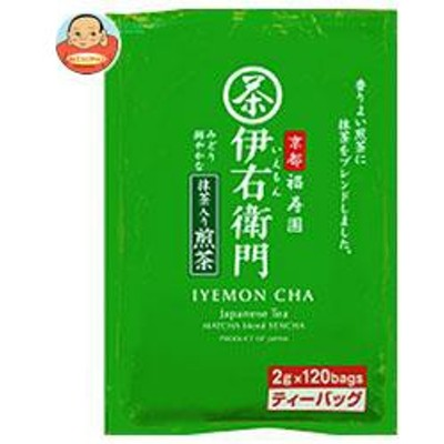 送料無料  宇治の露製茶  伊右衛門  抹茶入り煎茶 ティーバッグ  2g×120P×1袋入