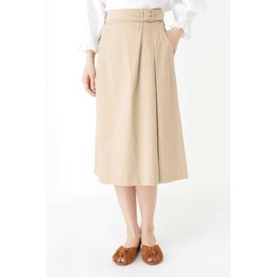 HUMAN WOMAN/ヒューマンウーマン ◆スラブサテンタンブラースカート ベージュ②1 M