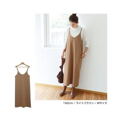 ポンチ素材 キャミ ワンピース (ワンピース)Dress