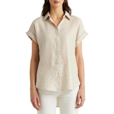 ラルフローレン カットソー トップス レディース Women's Linen Short Sleeve Shirt  -