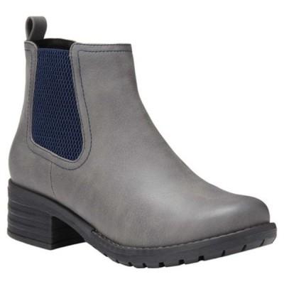 イーストランド ブーツ&レインブーツ シューズ レディース Jasmine Chelsea Boot (Women's) Grey Polyurethane
