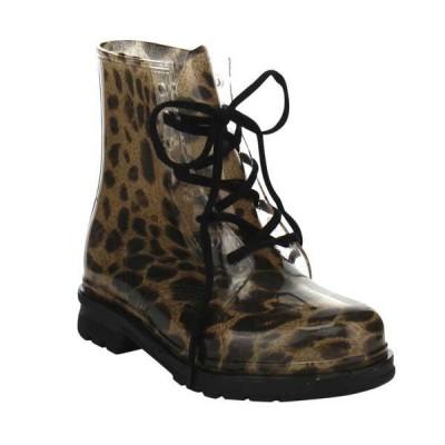 ブーツ シューズ 靴 海外厳選ブランド Chemistry W502 レディース Lace Up ハイ Top ゼリー Rainy ブーティーs LEOPARD