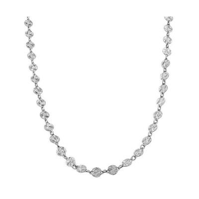 スターリング シルバー ダイヤモンド-カット ラウンド ディスク チェーン (20 inch)(海外取寄せ品)