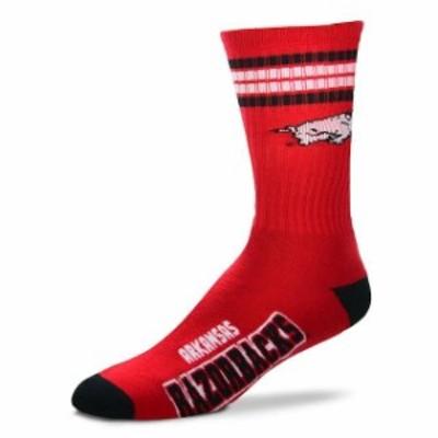 For Bare Feet フォー ベア フィート スポーツ用品  For Bare Feet Arkansas Razorbacks 4-Stripe Deuce Team Color Performance Crew So
