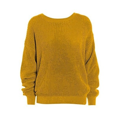 Rimi Hanger Women's Oversized Baggy Chunky Knitted Jumper Sweater Pullover