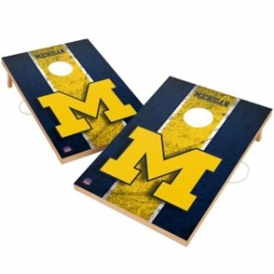 Victory Tailgate ビクトリー テイルゲート スポーツ用品  Michigan Wolverines 2 x 3 Solid Wood Cornhole Game Set