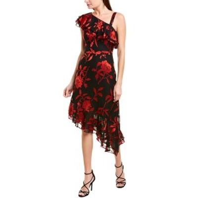 レイチェル ゾー レディース ワンピース トップス Rachel Zoe Antonia Sheath Dress black & red