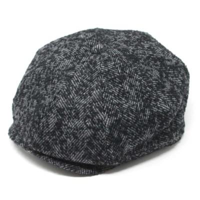 milsa ミルサ   Ring Tweed Newsboy  BLACK