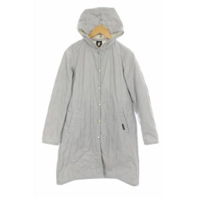 【中古】ラベンハム LAVENHAM フード付き中綿キルティングコート 38 水色 /YS ■OS レディース