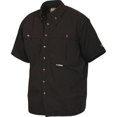 ドレークウォータフォール シャツ トップス メンズ Drake Waterfowl Men's Wingshooters Button Down Shirt Black