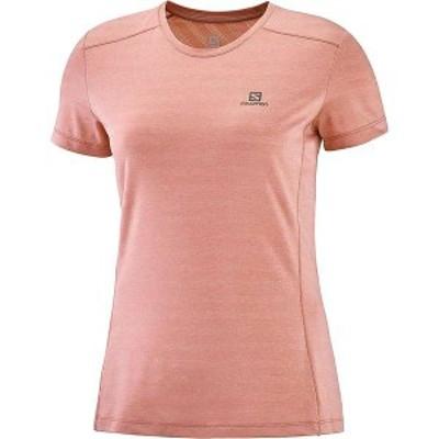 サロモン レディース Tシャツ トップス Salomon Women's XA Tee Brick Dust