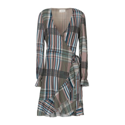 VICOLO ミニワンピース&ドレス グリーン S ポリエステル 100% ミニワンピース&ドレス