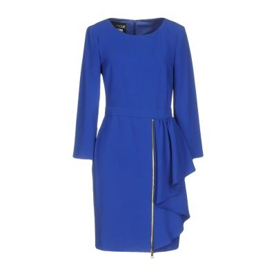 BOUTIQUE MOSCHINO ミニワンピース&ドレス ブルー 42 トリアセテート 70% / ポリエステル 30% ミニワンピース&ドレス