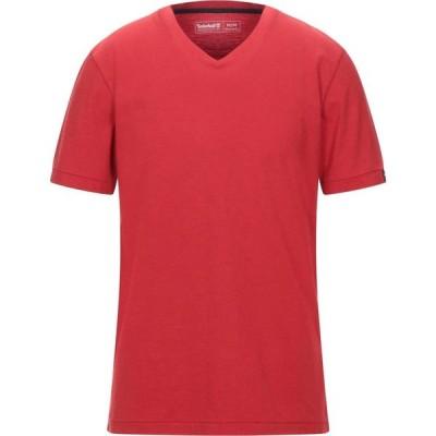 ティンバーランド TIMBERLAND メンズ Tシャツ トップス t-shirt Red