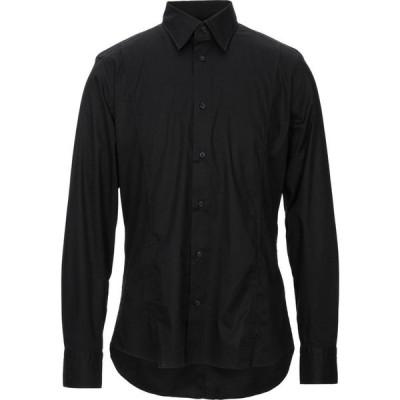 ファーチス FACIS メンズ シャツ トップス solid color shirt Black
