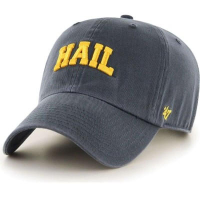 47ブランド '47 メンズ 帽子 47 Michigan Wolverines Blue Script Clean Up Adjustable Hat