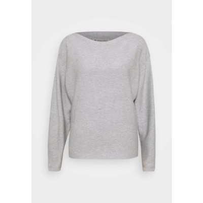 アンナフィールド レディース ファッション MID BAT SHAPE STRUCTURE - Jumper - mottled light grey