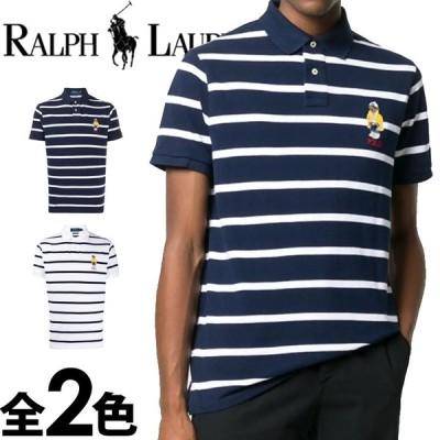 ポロ ラルフローレン メンズ ポロベアー ボーダー ポロシャツ 半袖 刺繍 ネイビー ホワイト POLO RALPH LAUREN 710795723