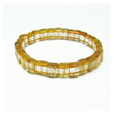 ゴールドタイチンルチル バングル  t107-3767