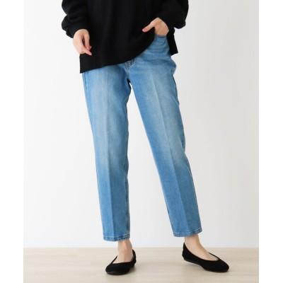 SHOO・LA・RUE / 【M-3L】センタープレステーパード WOMEN パンツ > デニムパンツ