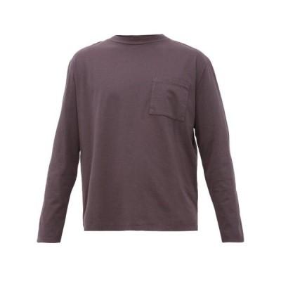 ジーネリカ ジーンズ&コー Jeanerica Jeans & Co. メンズ 長袖Tシャツ トップス Mino 180 long-sleeved cotton T-shirt Blue grey