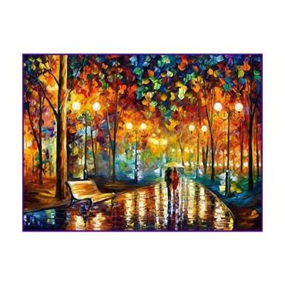 Moruska パズル 大人用 1000ピース - 雨の夜のお散歩パズル - チャレンジ木製ジグソーパズル 1000ピース アー