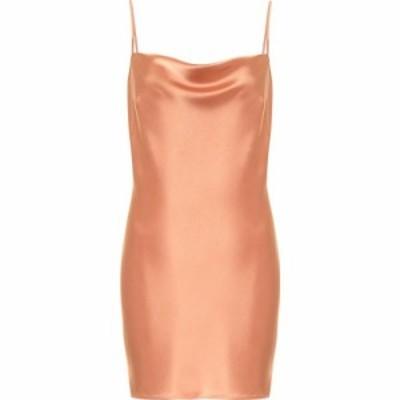 ナヌシュカ Nanushka レディース パーティードレス スリップドレス ワンピース・ドレス Lotti satin slip dress Apricot