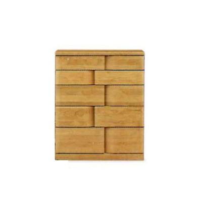 ミドルチェスト 木製 たんす タンス 箪笥 5段 (ハート 75-5段 ミドルチェスト) モダン/おしゃれ/収納家具