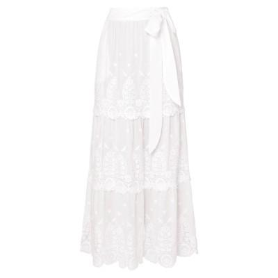 MIGUELINA ロングスカート ホワイト M コットン 100% ロングスカート