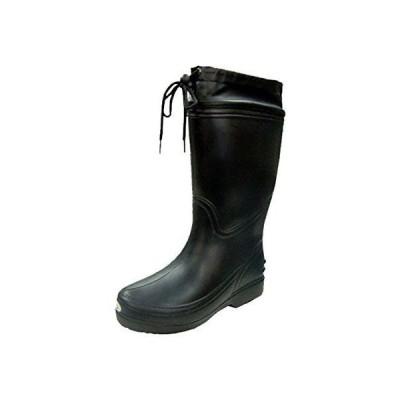 富士手袋工業 長靴 超軽量 EVA レインブーツ カバー付 軽作業 6250 メンズ BLACK SS