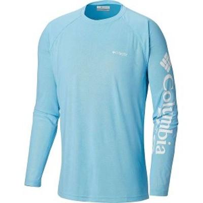 コロンビア メンズ Tシャツ トップス Columbia Men's Terminal Deflector LS Shirt Riptide / White