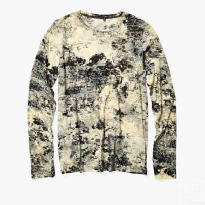 プロエンザ スクーラー Proenza Schouler レディース 長袖Tシャツ トップス Long Sleeve Printed T-Shirt Pale Yellow/Black Foil
