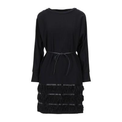 インペリアル IMPERIAL ミニワンピース&ドレス ブラック S コットン 95% / ポリウレタン 5% ミニワンピース&ドレス