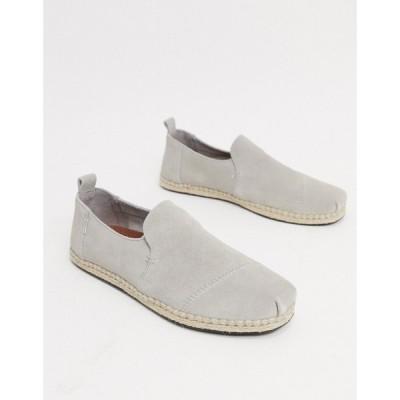トムス Toms メンズ エスパドリーユ シューズ・靴 deconstructed alpargata espadrilles in grey グレー