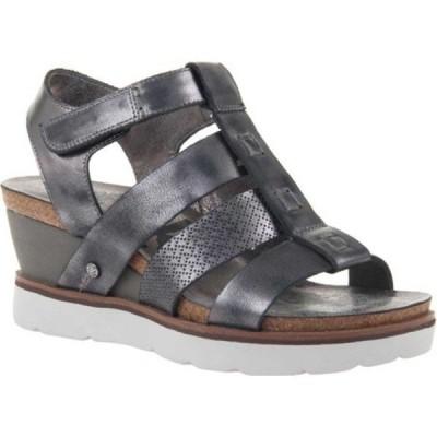 オーティービーティー サンダル シューズ レディース New Moon Gladiator Sandal (Women's) New Black Metallic Textured Leather