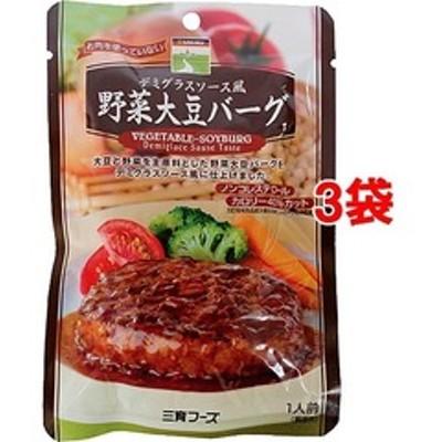 三育フーズ デミグラスソース野菜大豆バーグ (100g*3コセット)