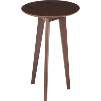 不二貿易 サイドテーブル 直径40cm ブラウン 中 木製 31393