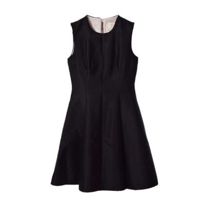 kate spade new york シルク混 ドレス ワンピース 4A ブラック ケイトスペード