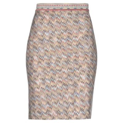 ミッソーニ MISSONI ひざ丈スカート ライトイエロー 48 ウール 100% ひざ丈スカート